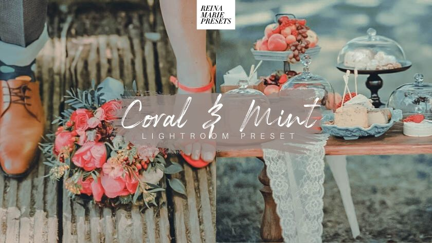 Free Coral and Mint Wedding Lightroom Preset
