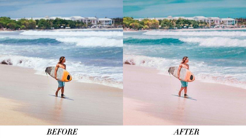 Beach Vibe Lightroom Preset Free