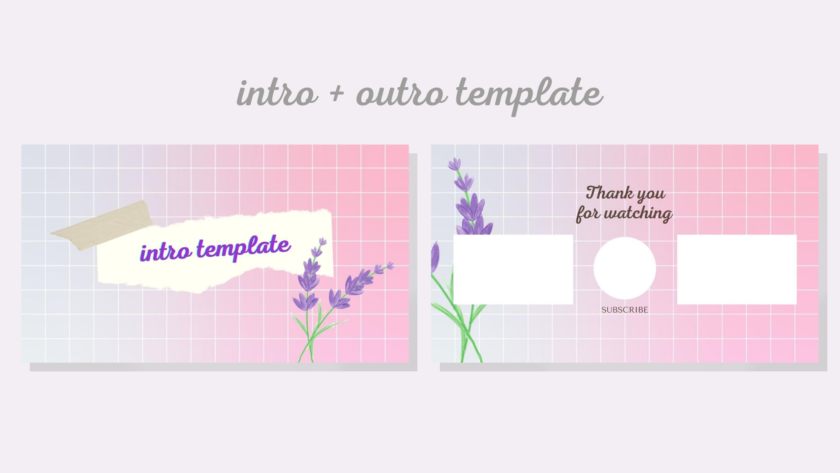 Pink Youtube Aesthetic Intro Outro Template