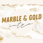 Marble and Gold Intro Template no text free