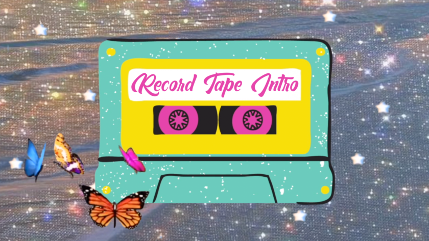 Aesthetic Intro Template   Record Tape Intro   Intro Template (No Text) #29