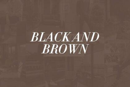black and brown lightroom preset