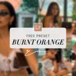 Free Burnt Orange Preset Lightroom Preset