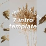 7 Aesthetic Beige Intro Template Free Download No text